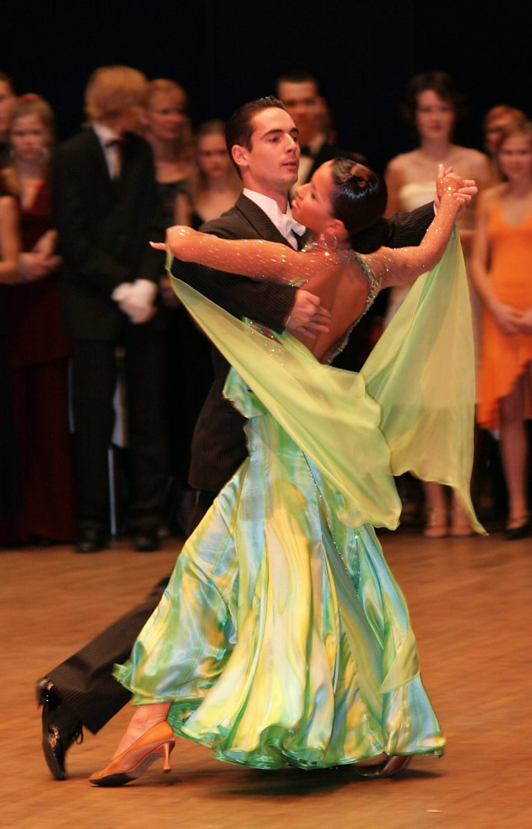 ballroom dancers dancing the waltz