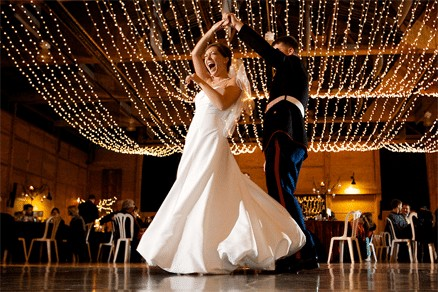 Marine and His Wife Dancing Their Wedding Dance