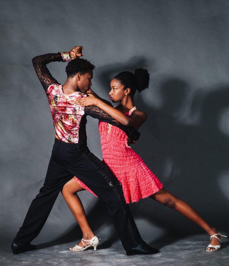 Teen Couple dancing american tango