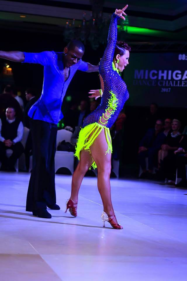 Trish and Abe dancing Mambo at Dance Competition