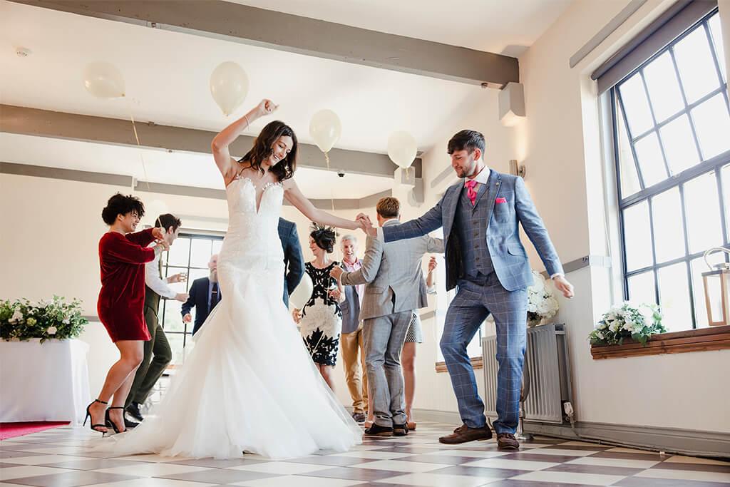 group wedding dancing